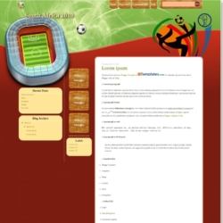South Africa 2010 Blogger Template