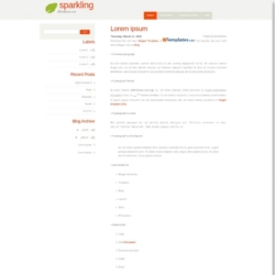 Sparkling Blogger Template