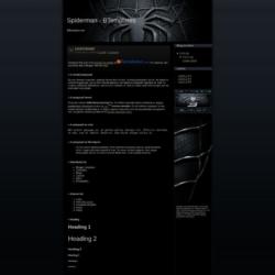 Spiderman Blogger Template