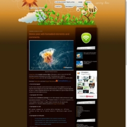 Spring Bees Blogger Template