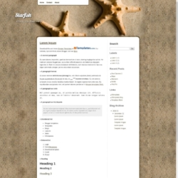 Starfish Blogger Template