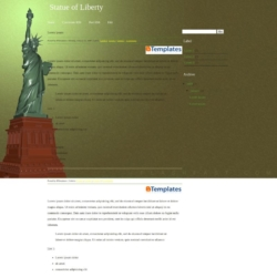 Statue of Liberty Blogger Template