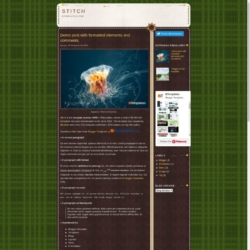 Stitch Blogger Template