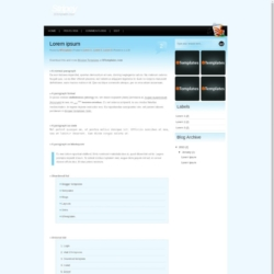 Stripey Blogger Template