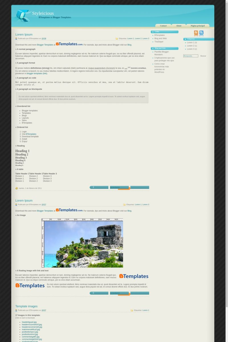 Download Styleicious Blogger Template