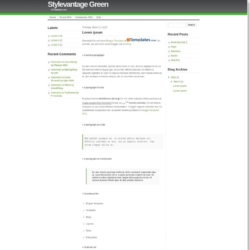 Stylevantage Green Blogger Template