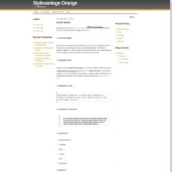 Stylevantage Orange Blogger Template