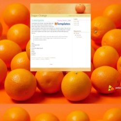 Sugar Orange Blogger Template