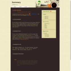 Summary Blogger Template