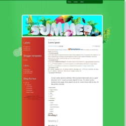 Summery Blogger Template