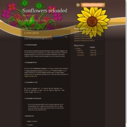 Sunflowers reloaded Blogger Template