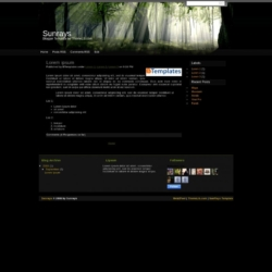 Sunrays Blogger Template