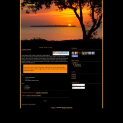 Sunset Blogger Template