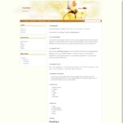 Sunshine Blogger Template