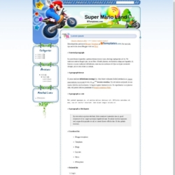 Super Mario Land Blogger Template
