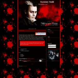 Sweeney Todd Blogger Template