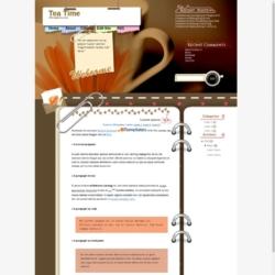 Tea Time Blogger Template
