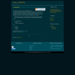 Teal Green Blogger Template