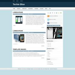 Techie Blue Blogger Template