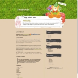 Teddy Print Blogger Template