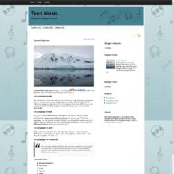 Teen Music Blogger Template