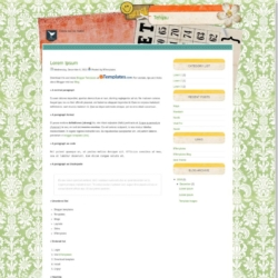 Tehijau Blogger Template