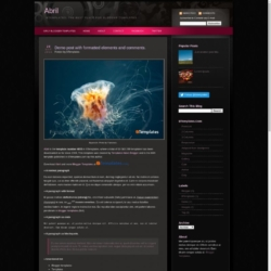Template Abril Blogger Template