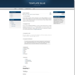 Template Blue Blogger Template
