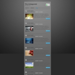 The Antagonist Blogger Template