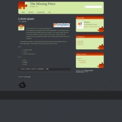 The Missing Piece Blogger Template