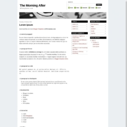 The Morning After Blogger Template