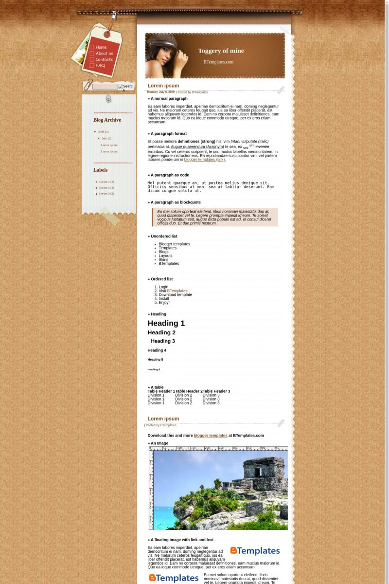 Download Toggery of mine Blogger Template
