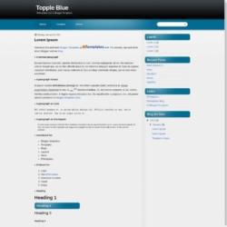 Topple Blue Blogger Template