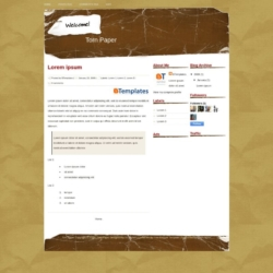 Torn Paper Blogger Template