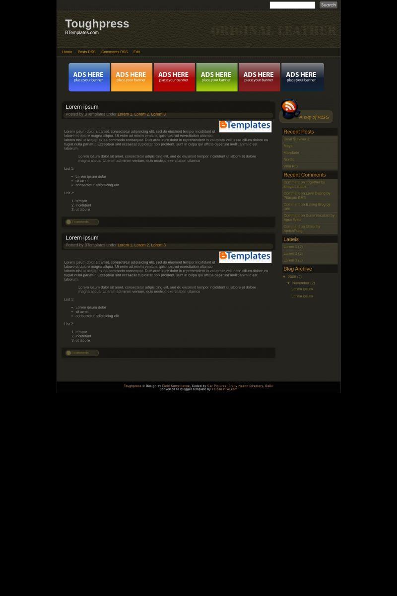 Download Toughpress Blogger Template