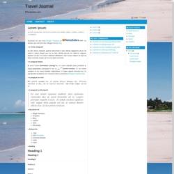 Travel Journal Blogger Template