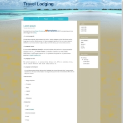 Travel Lodging Blogger Template