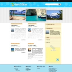 Travel Theme Blogger Template