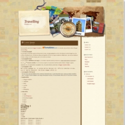 Travelling Blogger Template