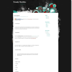 Trendy Marbles Blogger Template