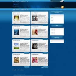 Trily Blogger Template