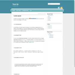 Tune Up Blogger Template