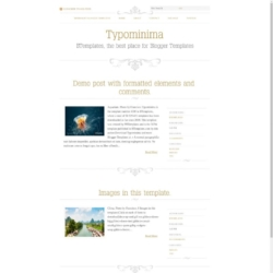 Typominima Blogger Template
