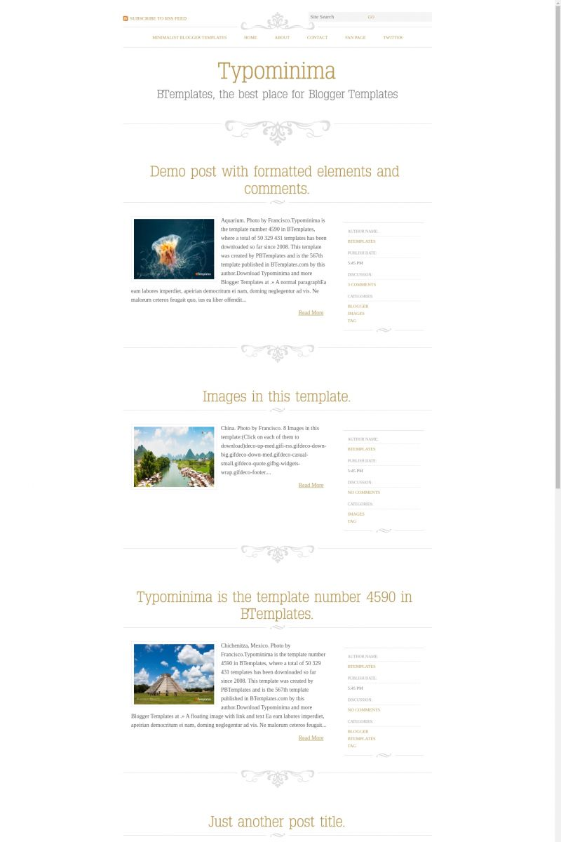 Download Typominima Blogger Template