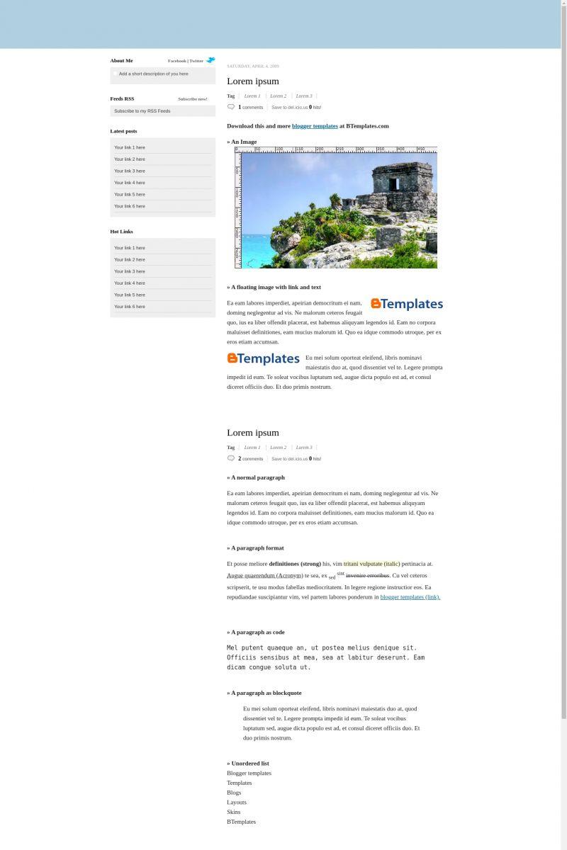 Download Typoork Blogger Template