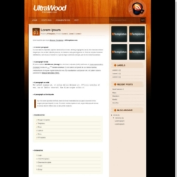 UltraWood Blogger Template