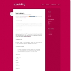Undertaking Blogger Template