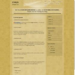Uniqx Blogger Template