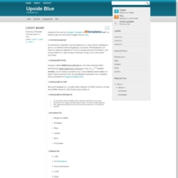 Upside Blue Blogger Template