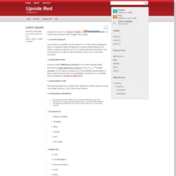 Upside Red Blogger Template